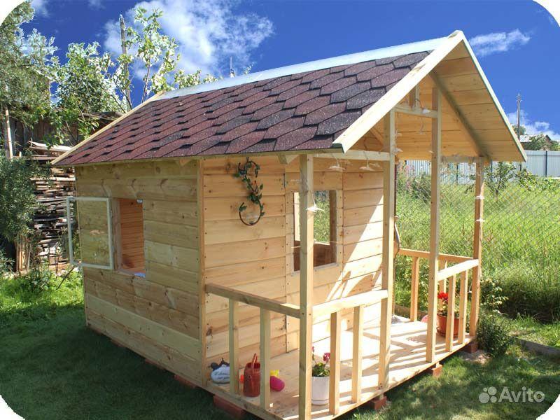 Детские деревянные домики для дачи своими руками