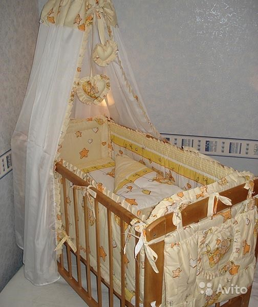 Балдахин и бортики в кроватку своими руками