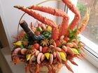 Морепродукты крабы креветки в наличии