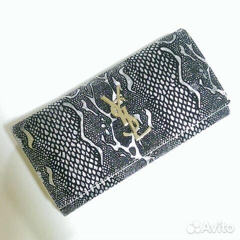 638c928466bc Женский кошелек Yves Saint Laurent серебристый купить в Самарской ...