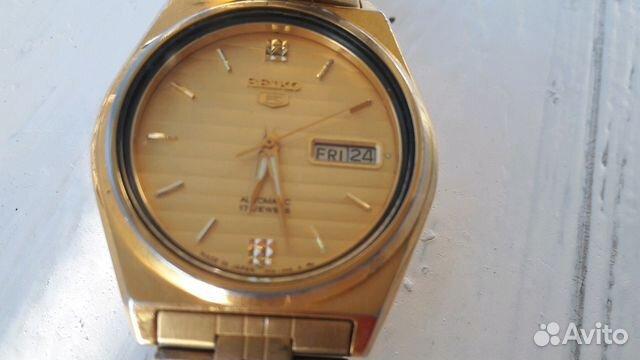 Мужские позолоченные наручные часы Seiko 5 89283211593 купить 8