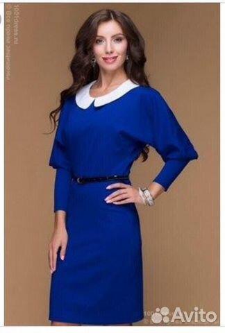 d92a3fd1d8f Платье синее повседневное 1001 dress