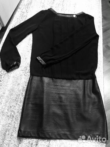 e56a22e2f30 Платье с кожей