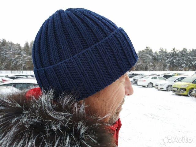 шапка мужская вязаная Festimaru мониторинг объявлений