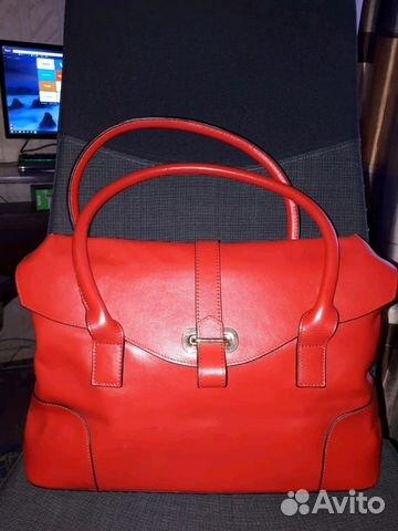 ef611b6ec Красивая красная кожаная сумка Mascotte Новая купить в Московской ...
