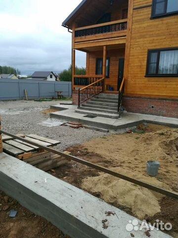 Строительство фундамента, бетонные работы