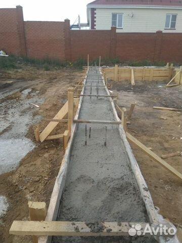 Фундамент/ бетонные работы/ Ленточный фундамент 89582647855 купить 1