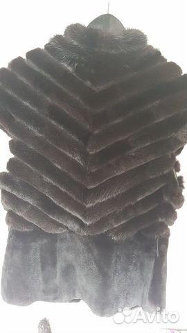 Шикарная новая норковая жилетка