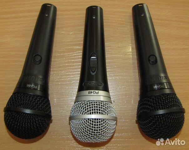 Проф вокальные микрофоны Shure PG48 - 58 3шт новые 89128899109 купить 3