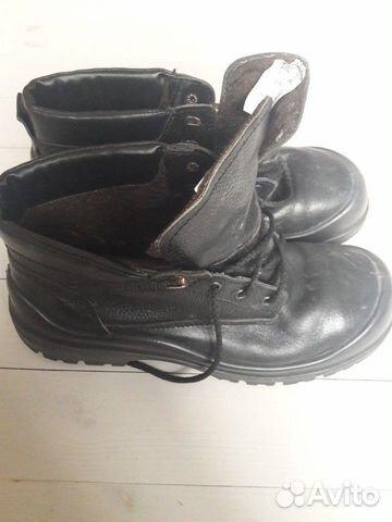 Work boots: genuine leather, wool, metal