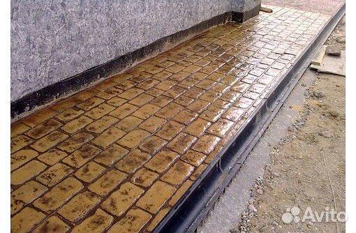 Материал для печатного бетона купить в строительный насос для раствора
