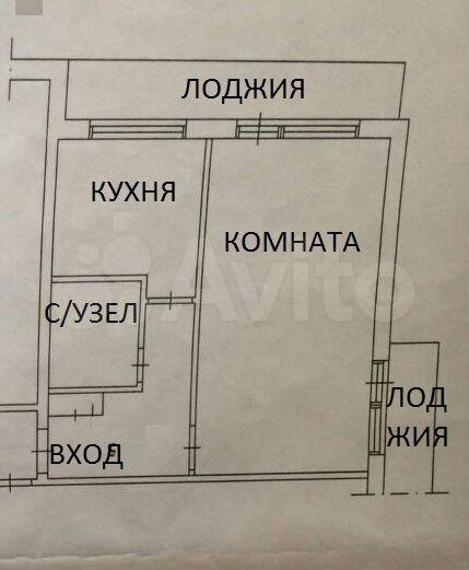 1-к квартира, 32 м², 7/9 эт.  89009150136 купить 3