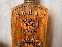 """Резьба по дереву. Бутылка """"Смоленская крепость"""""""