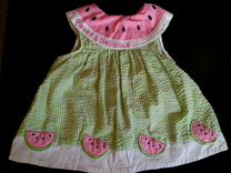 Платье арбуз