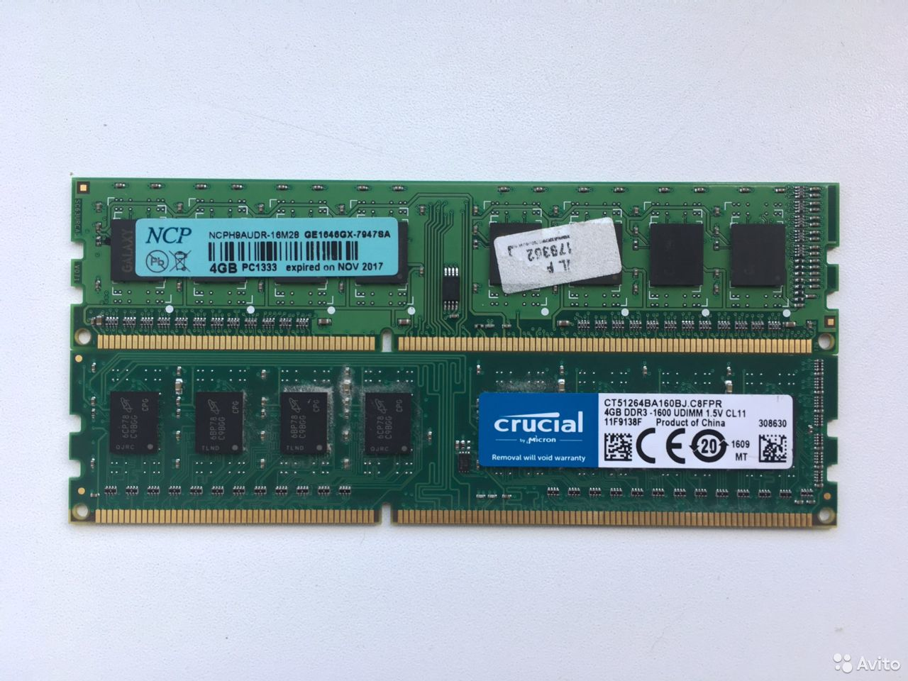 Оперативная память DDR3 NCP / Crucial 2x4GB 1600MH