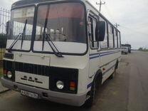 Автобус с работой на маршруте