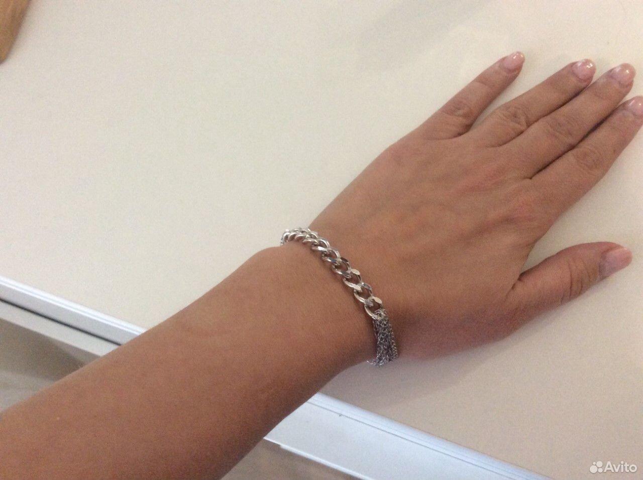 Браслет серебряный 925 родированый красцветмед  89130467467 купить 4