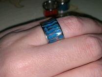 Серебряное кольцо эмаль
