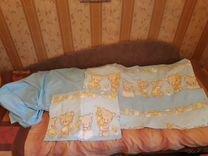 Набор в кроватку (одеяло +подушка + постель)
